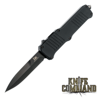 "HK Incursion OTF Automatic: 3.9"" Bayonet Blade - Black PVD Finish, Matte Black Aluminum Frame 54096"