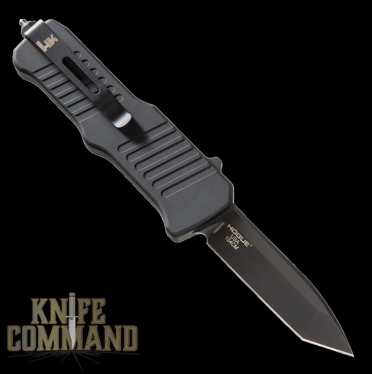 "HK Mini Incursion OTF Automatic: 2.95"" Tanto Blade - Black PVD Finish, Matte Black Aluminum Frame 54046"