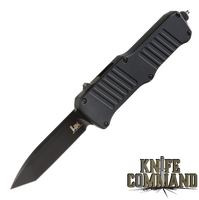"HK Mini Incursion OTF Automatic: 2.95"" Tanto Blade - Black PVD Finish, Matte Black Aluminum Frame 54046"