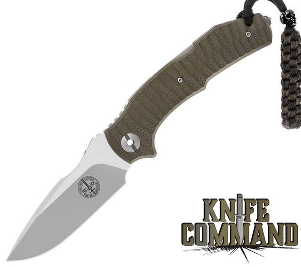 Pohl Force Mike Five Tactical 1095 Green G10 Tactical Folding Knife