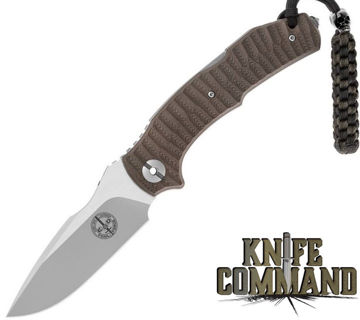 Pohl Force Mike Five Desert 1096 Brown G10 Tactical Folding Knife