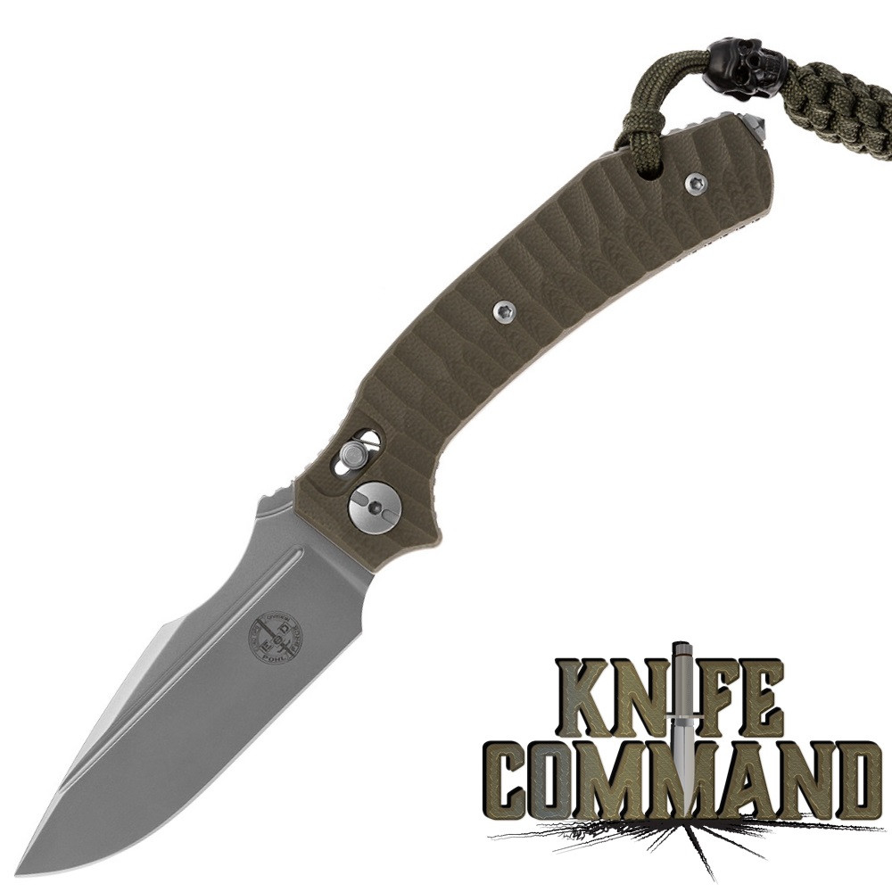 Pohl Force 1101 Force Two Tactical Nitro-B Folding Knife OD Green