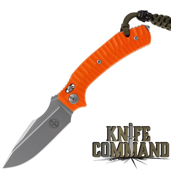 Pohl Force 1102 Force Two Rescue Nitro-B Folding Knife Blaze Orange G-10