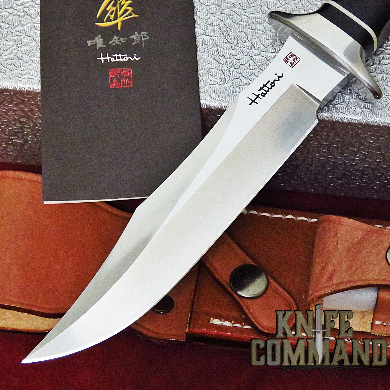 "Hattori Knives TV-3 Black Micarta S.O.G. Style Vietnam Fighter Knife 6-1/4"" Blade"