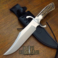 BOKER SOLINGEN BOWIE STAG N690 STAINLESS FIXED BLADE KNIFE 121547HH