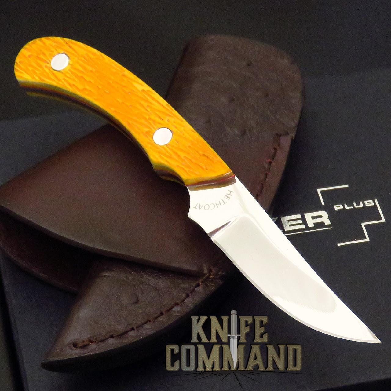 Rare Boker Plus Cross Draw Orange Jigged Bone Knife 02BO518 Only 2 Made!