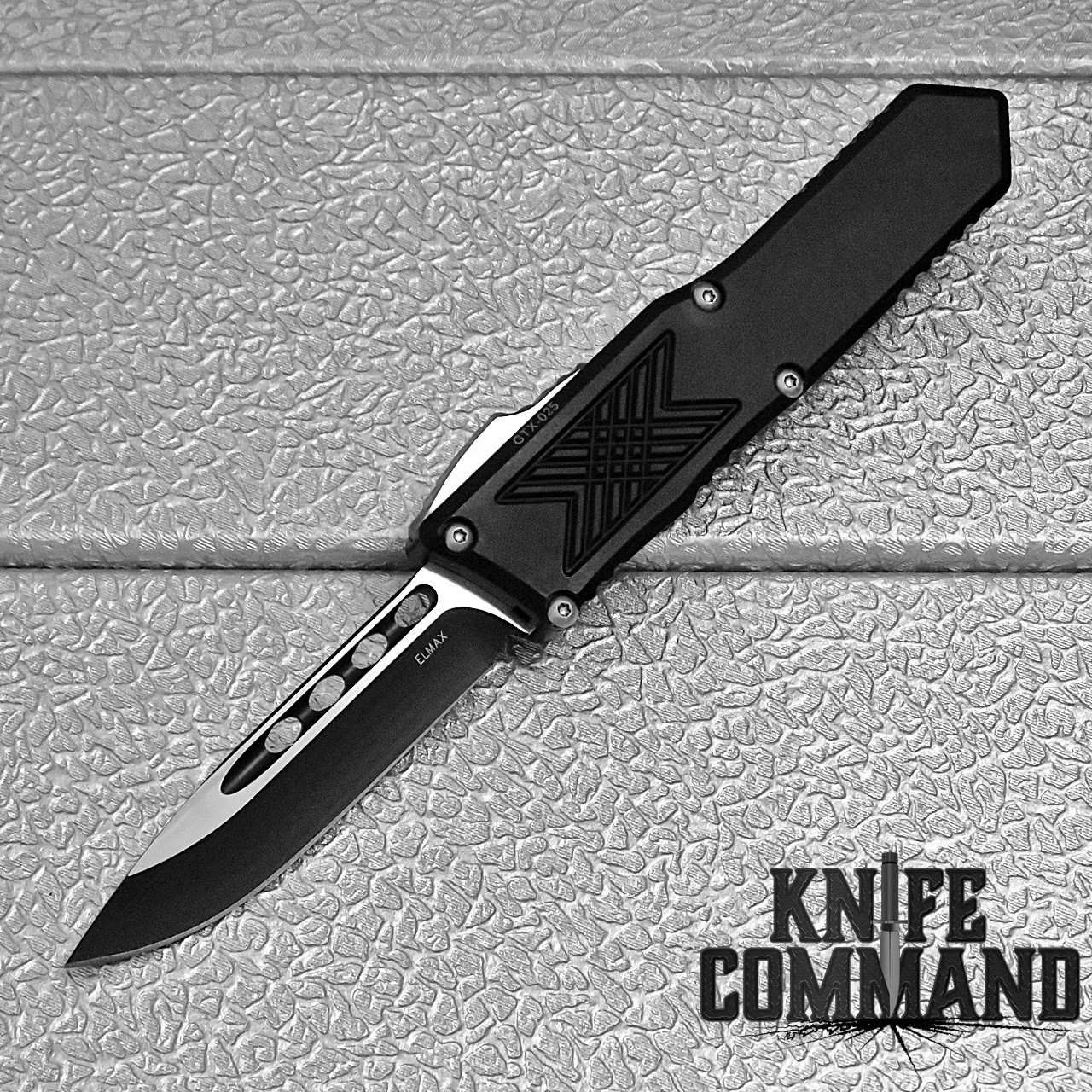 Guardian Tactical GTX-025 OTF Automatic Knife Elmax Two Tone Drop-point 12-3211