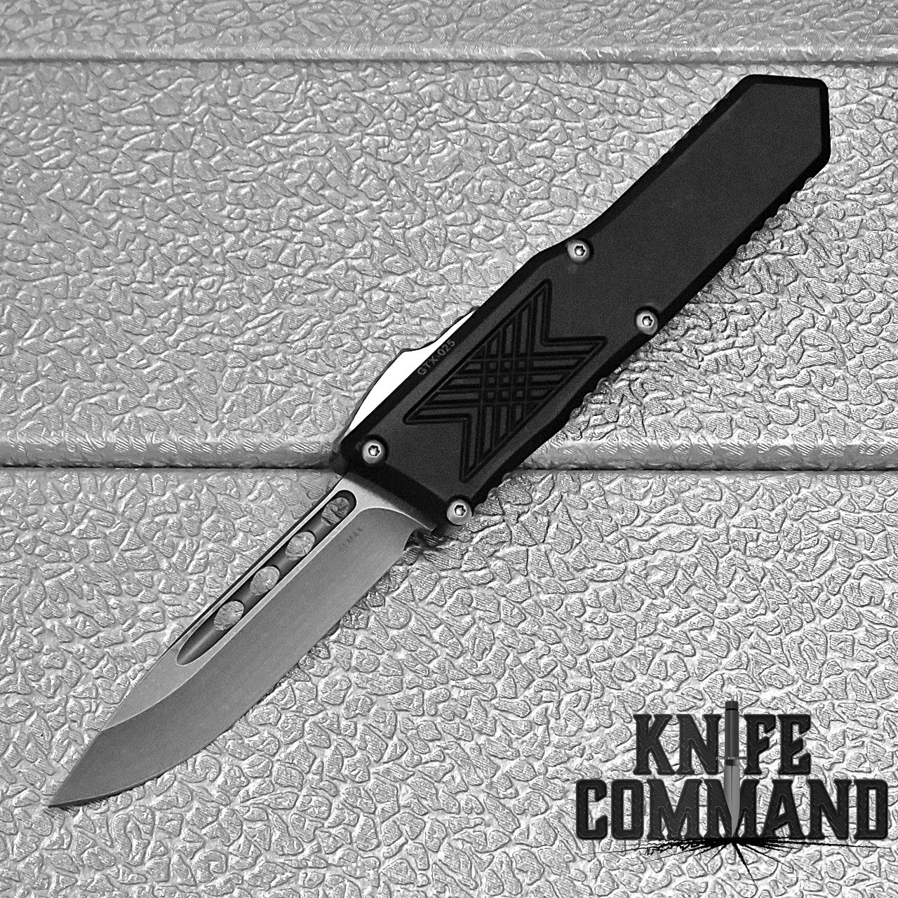 Guardian Tactical GTX-025 OTF Automatic Knife Elmax Stonewash Drop-point 12-3511