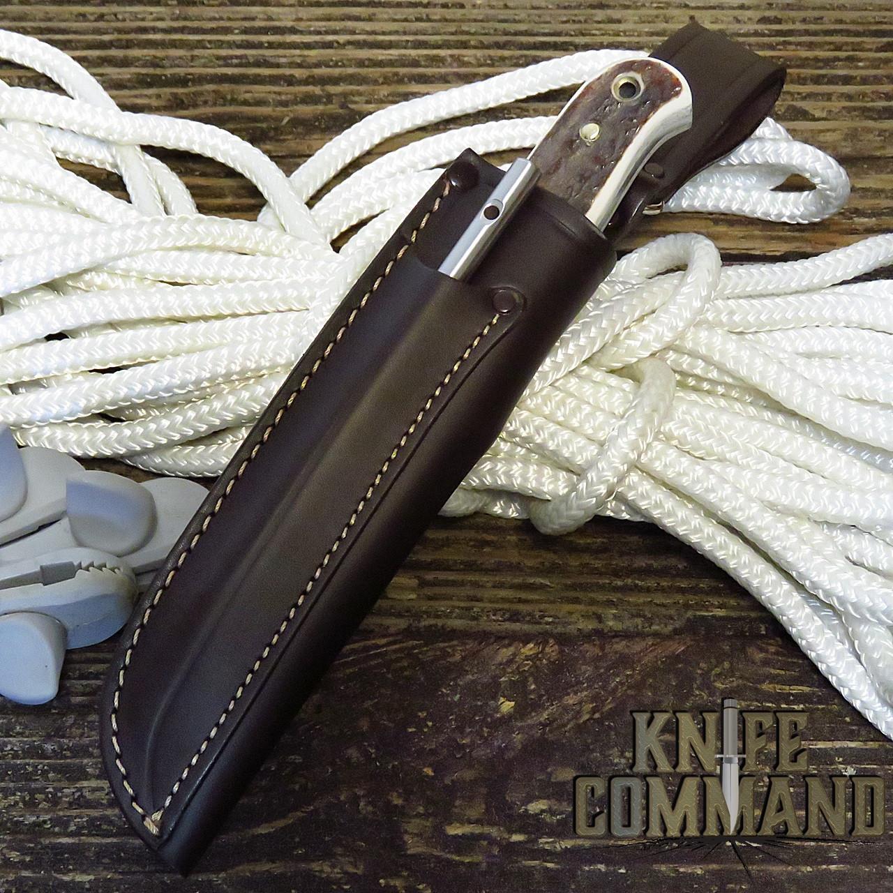 Linder Solingen Custom Stag H.D. Boat Knife and Marlin Spike 168010H