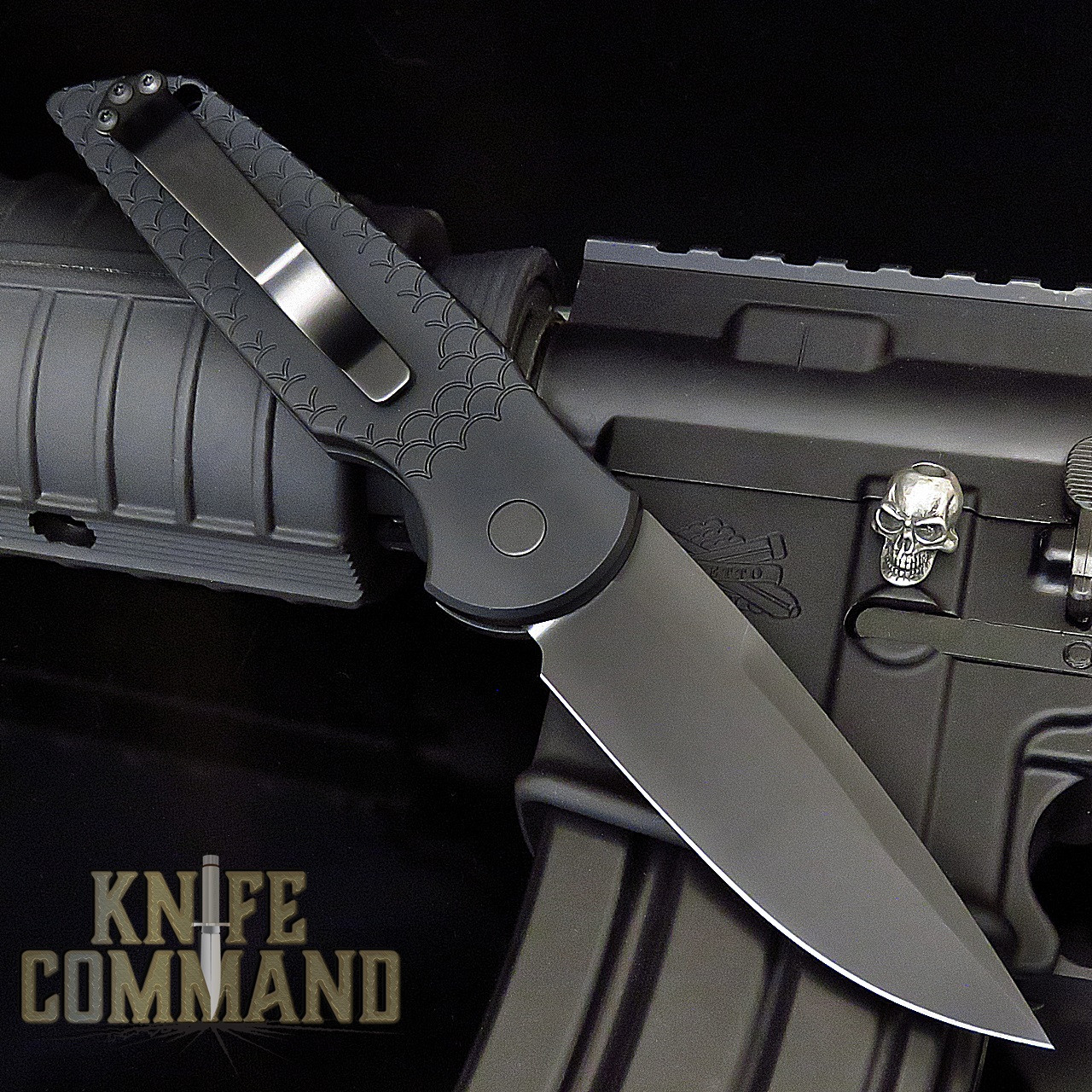 "Pro-Tech Knives Tactical Response 3 TR-3 X1 Operator Automatic Knife Sterile Folder 3.5"" Blade Tritium Button"