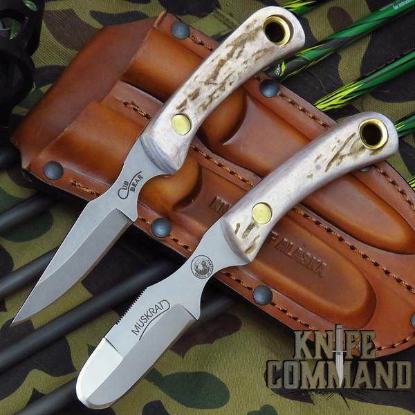 Knives of Alaska Muskrat Cub Bear Stag Hunting Knife Combo 00101FG