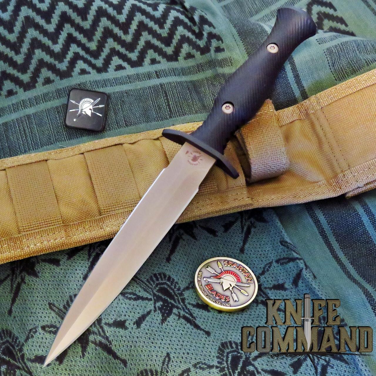 Spartan Blades Harsey Dagger Knife Flat Dark Earth / Tan Nylon Sheath SB49DEBKNLTN