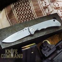 """Spartan Blades Harsey Folder Stone Washed Titanium 4"""" CPM S45VN Blade SF5SW"""