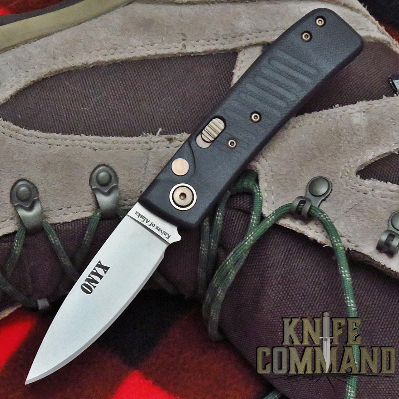 Knives of Alaska Onyx Automatic Knife Black G10 00946FG