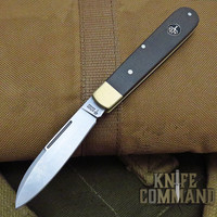 Boker Knives Barlow Prime Model 112942 Green Canvas Micarta / Brass Slip Joint Pocket Knife