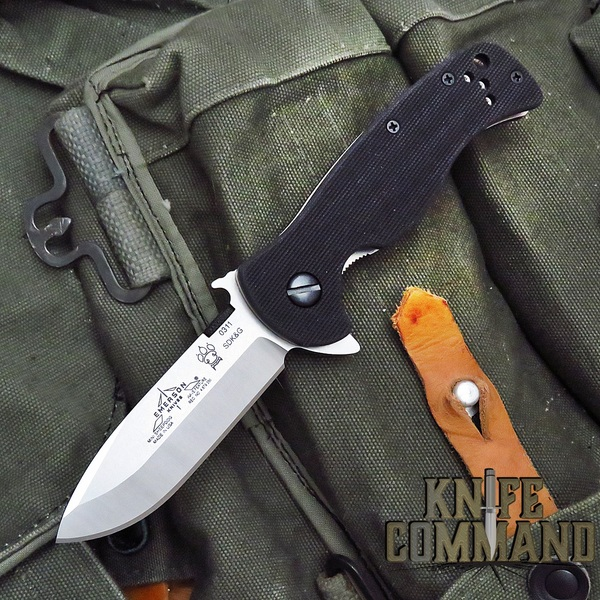 Emerson Rangemaster Mini Sheepdog Spearpoint Stonewash Finish Flipper Knife