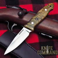 Boker Cub Curly Birch Lucas Burnley EDC Fixed Blade Knife 127661