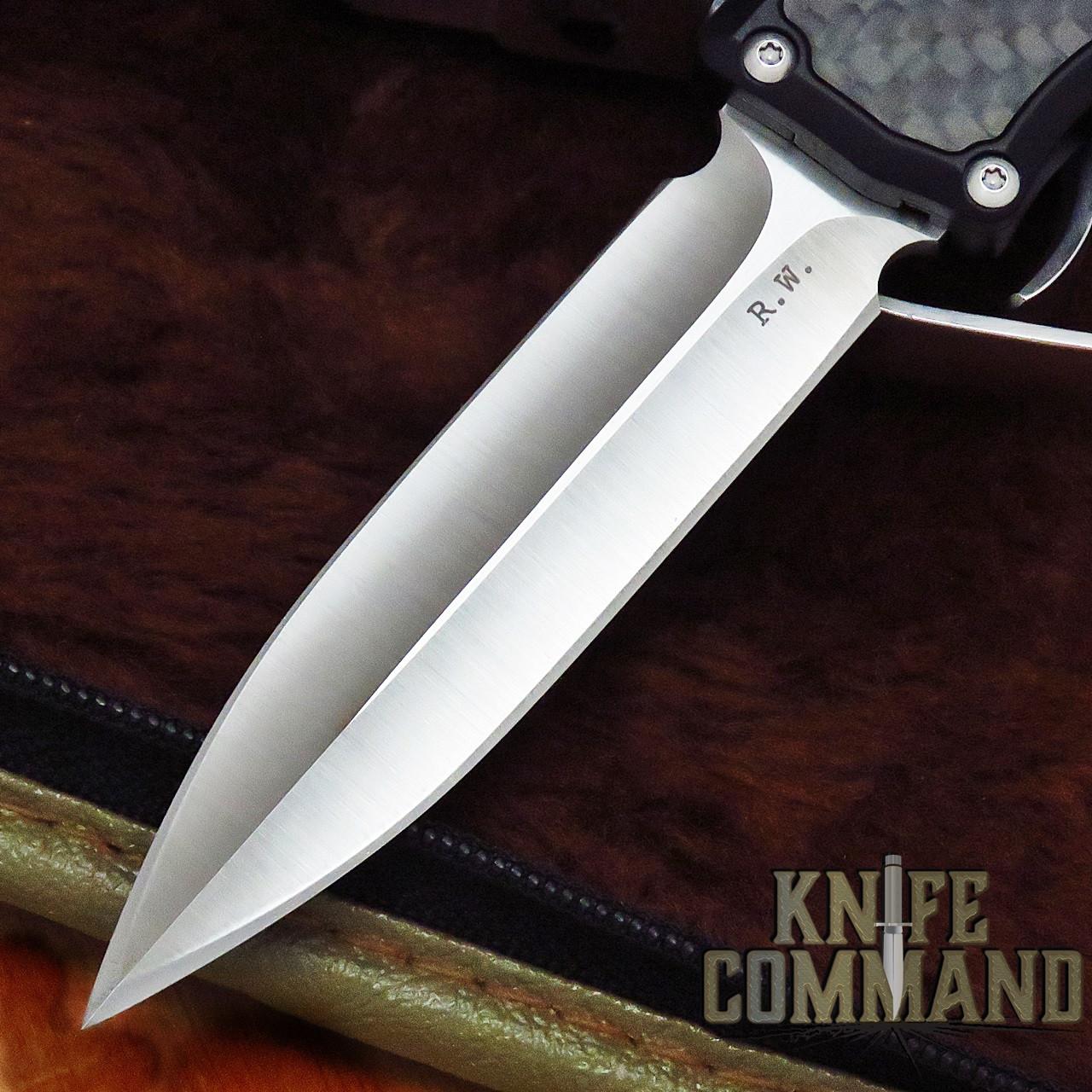 Guardian Tactical Custom Recon-035 OTF Reese Weiland Double Edge Satin Elmax Carbon Fiber Automatic Knife 92931