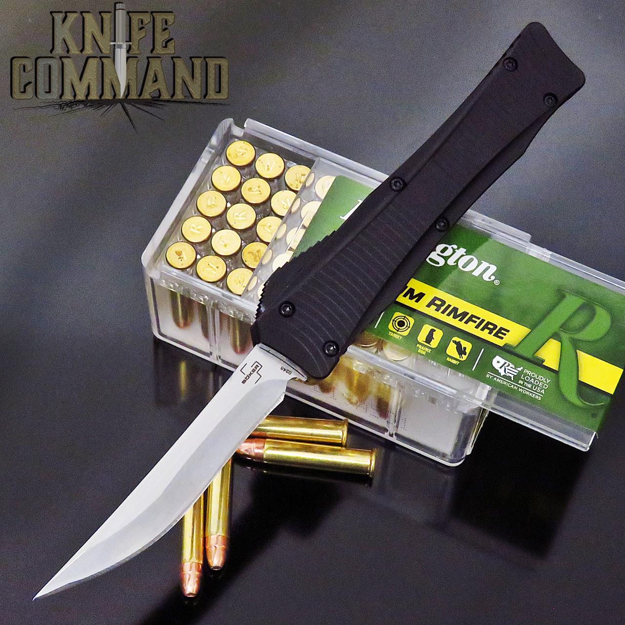 Boker Plus Lhotak Mini Eagle OTF Automatic Knife Black 06EX224 Cobratec Knives