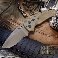 """Hogue Knives Sig Sauer K320A Coyote Tan Automatic Folder 3.5"""" Drop Point Blade - Coyote PVD Finish, Poly Frame Knife 36333"""