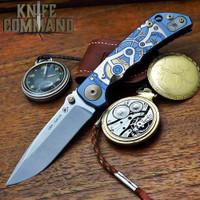 """Spartan Blades Harsey Folder Special Edition Watchworks Titanium 4"""" CPM S45VN Blade SF5WATCHWORKS"""