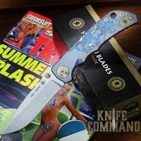 "Spartan Blades Harsey Folder Special Edition Spartan Babe Titanium 4"" CPM S45VN Blade SF5SPARTANBABE"
