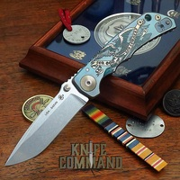 """Spartan Blades Harsey Folder Special Edition For God And Country Titanium 4"""" CPM S45VN Blade SF5G&C"""