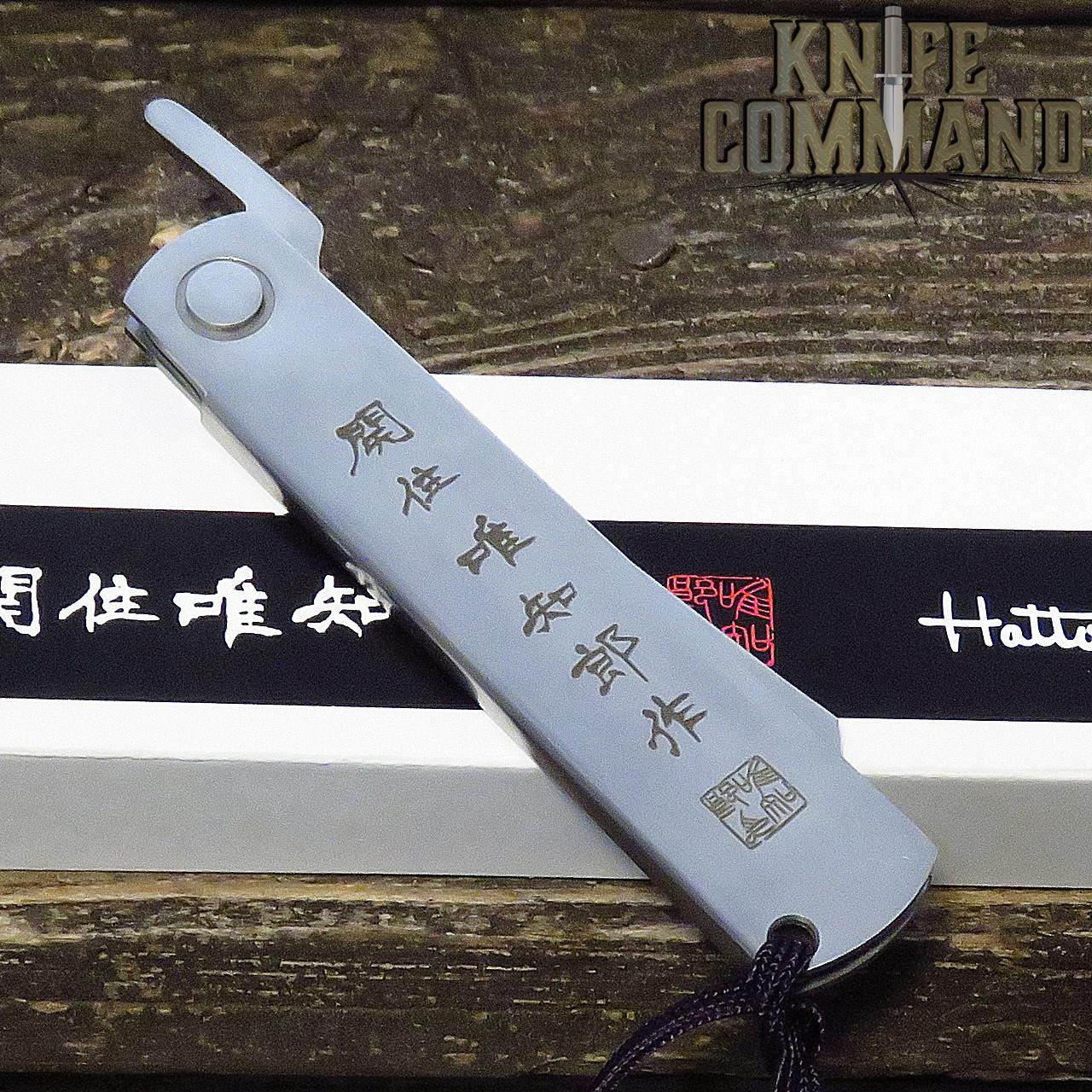 Hattori Knives Higonokami Tanto Folding Knife San Mai VG-10 Blade