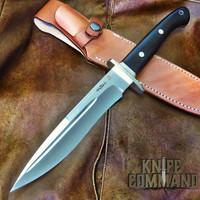 "Hattori Knives Ichiro Hattori Ebony Big Fighter Knife 7-3/4"" M.V.S.-8 Blade FT-200E"