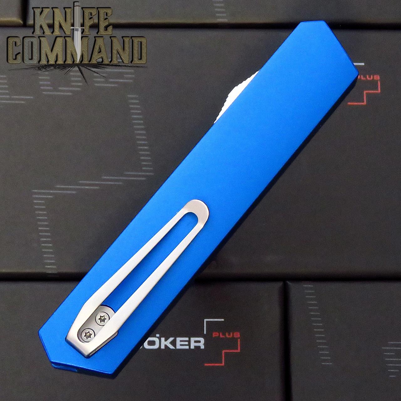 Boker Plus USA Kwaiken Blue OTF Automatic Knife Blue / Satin D2 06EX550 Cobratec Knives
