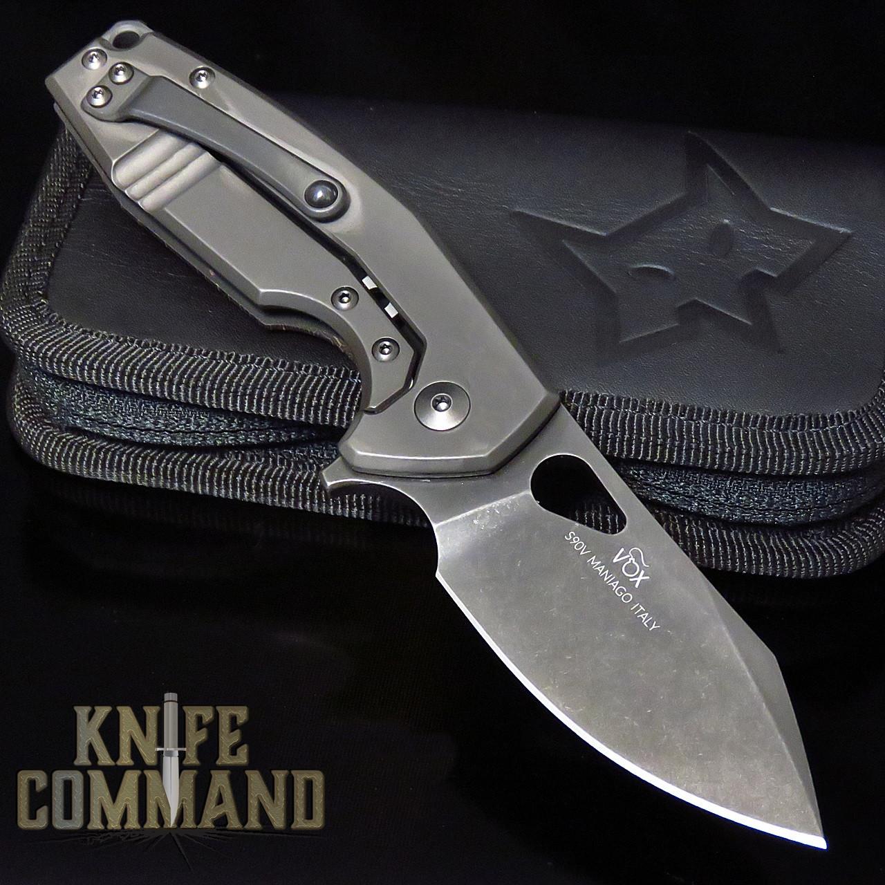 Fox Knives Voxnaes Yaru FX-527CF Folding Knife Carbon Fiber Space Coral
