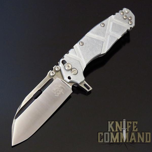 Wander Tactical Hurricane Custom Gen 3 Extreme Duty Folding Knife Silver Aluminum / Satin