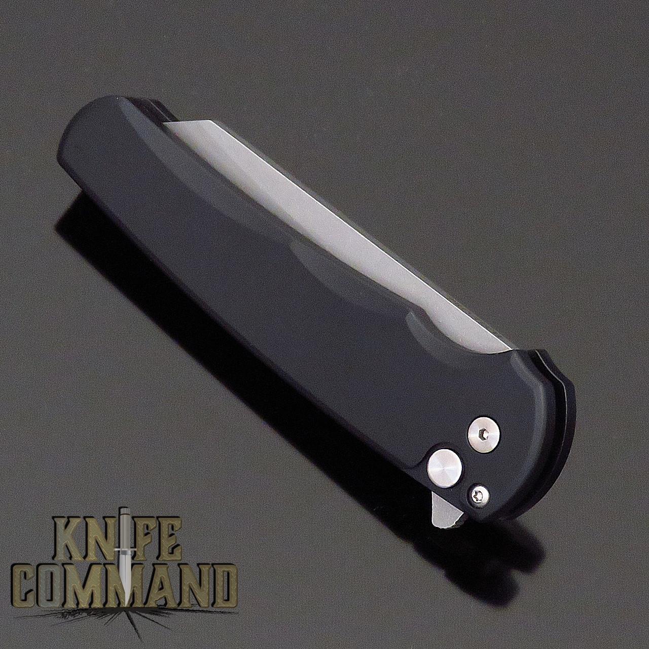 "Pro-Tech Knives 5201 Malibu Manual Flipper Knife Folder 3.25"" Stonewash CPM-20CV Reverse Tanto Blade"