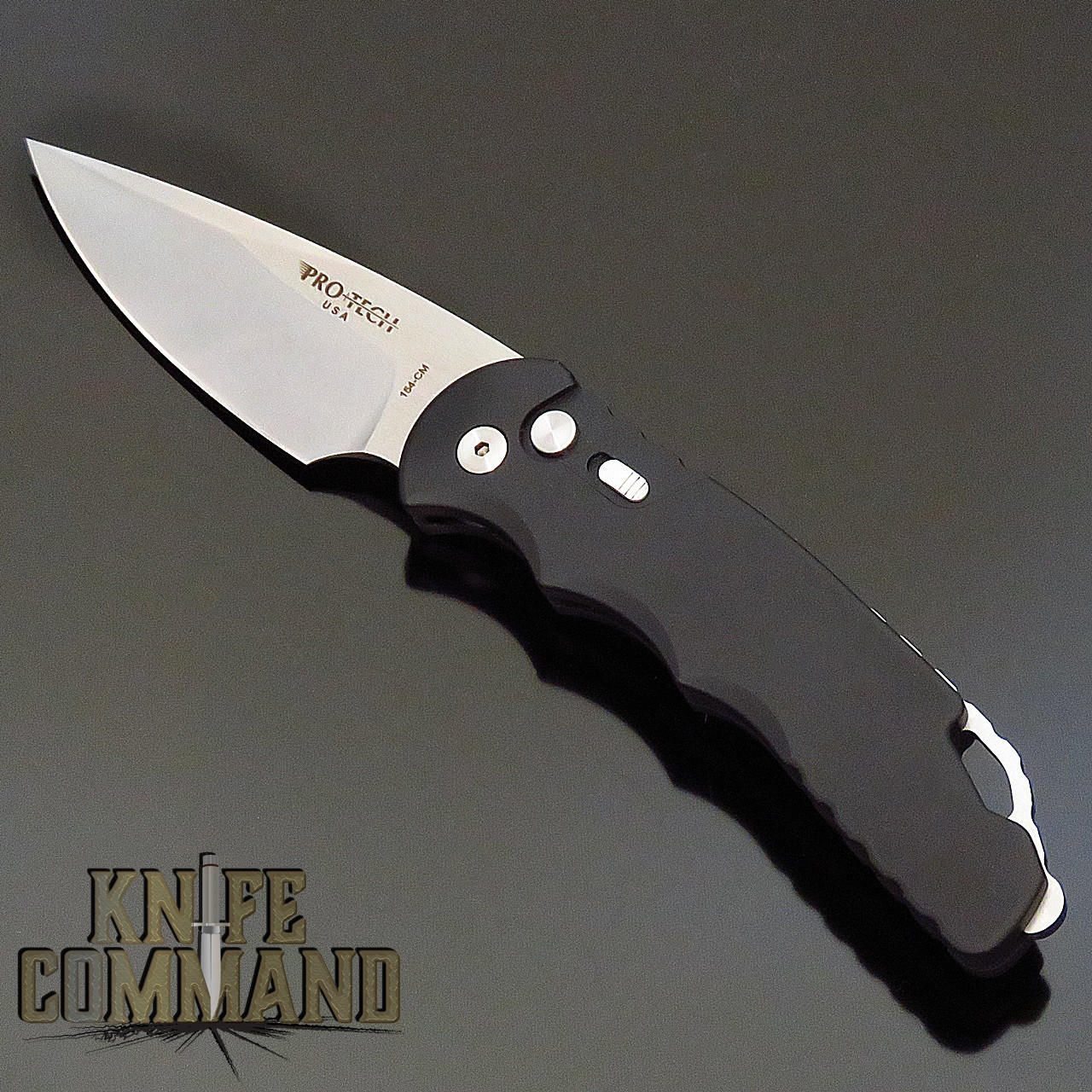 "Pro-Tech Knives Tactical Response TR-4.1 Black Automatic Knife Police Law Enforcement Folder 4"" Stonewash Blade"