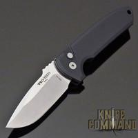 Pro-Tech Knives Rockeye Automatic Knife LG301 Les George Folder Stonewash S35VN Blade