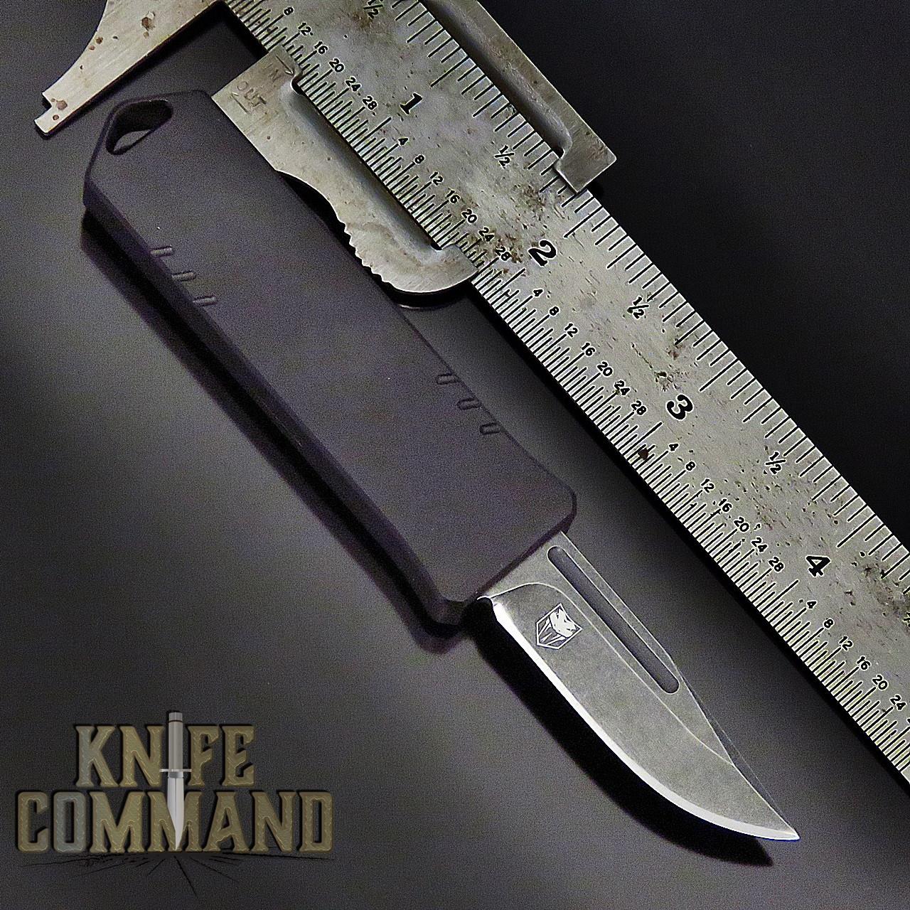 Boker Plus USA USB Black OTF Automatic Knife Black / Dark Stonewash D2 06EX270 Cobratec Knives
