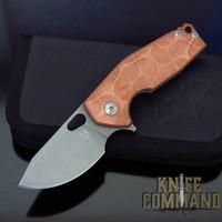 Fox Knives Voxnaes Suru FX-526LECOP Copper and Titanium CPM-20CV Folding Knife