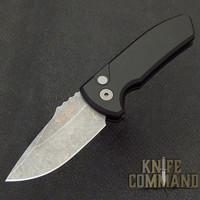 Pro-Tech Knives SBR Short Blade Rockeye Automatic Knife LG411 Les George Folder Acid Washed S35VN Blade