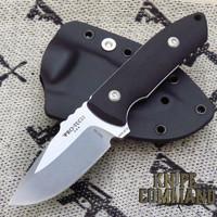 Pro-Tech Knives SBR Short Blade Rockeye Fixed Blade Knife LG501 Les George Stonewashed S35VN Blade