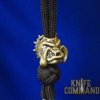 Techno Silver Bulldog Brass Knife Lanyard Bead
