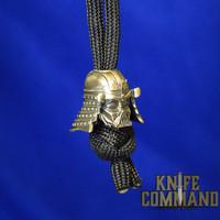 Techno Silver Art Vader Samurai Skull Brass Knife Lanyard Bead