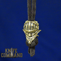 Techno Silver Big Money Gnome Brass Knife Lanyard Bead