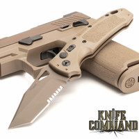"""Hogue Knives Sig Sauer K320A Coyote Tan Automatic Folder 3.5"""" Tanto Blade - Coyote PVD Finish, Poly Frame Knife 36323"""