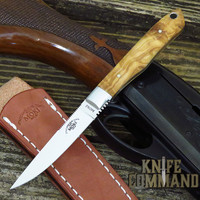 Moki Limited Edition TS-535OL Bird and Trout Fixed Blade Knife in Olive Wood