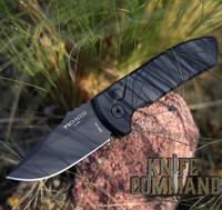 Pro-Tech Knives SBR Short Blade Rockeye Automatic Knife LG403 Les George Folder Black S35VN Blade