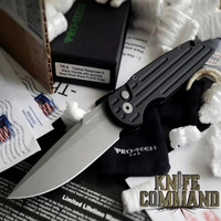 """Pro-Tech Knives Tactical Response TR-3 Automatic Knife Police Law Enforcement Folder 3.5"""" Bead Blasted Blade"""