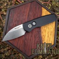 "Pro-Tech Knives Runt 5 Automatic Folder Knife Folder 1-15/16"" Wharncliffe CPM-20CV Bead Blasted Blade"