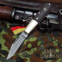 Boker Barlow Limited Edition Ripple Damascus Bog Oak Slip Joint Folder Knife 100600DAM