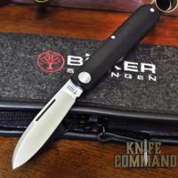 Boker Knives Barlow Prime EDC Black Model 116942 Black Canvas Micarta Slip Joint Pocket Knife