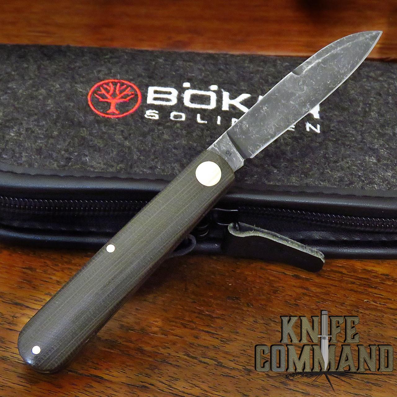 Boker Knives Barlow Prime EDC Green Model 115942 Green Canvas Micarta Slip Joint Pocket Knife